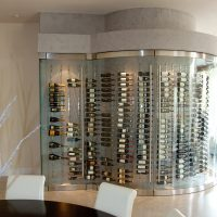 custom glass wine cellar